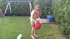 Ice bucket babe