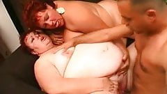 two super bbw in threesome action
