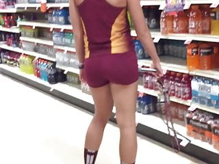 Erotic athletic female nudes Creeping on a female athlete at the supermarket