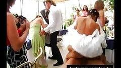 Шлюхи сосут и трахаются на свадьбе