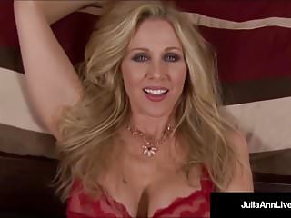 Deep throats - Mega naughty milf julia ann talks dirty deep throats dick