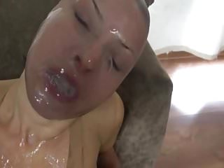 Pussy torture with heavy weights - Nylon encasement with heavy cum play