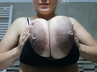 Milky tits breast lactation - Giant milky tits with chocolate areolas