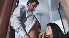 Slut get fucked in public toilet