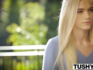 Pettite lingerie - Tushy first anal for beautiful blonde alex grey