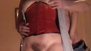Mrs B blowjob and standing fuck