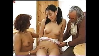 Not Family Sex #5 Dutch Girl, Woman and Old man