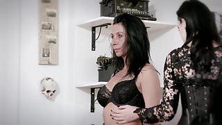 German Gothic Lesbian Threesome