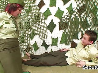 Army gay fuck - German army uniform milf get fucked by young boy
