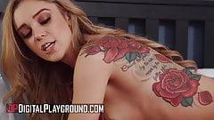 Seksowna blondynka Kali Rose wie, jak poradzić sobie z dużym kutasem