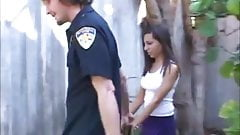 Young cheerleader Lela caught stealing and strip searched