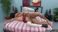 Teen babe gets taught an afterschool lesson
