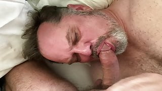Daddy enjoys hot young cock