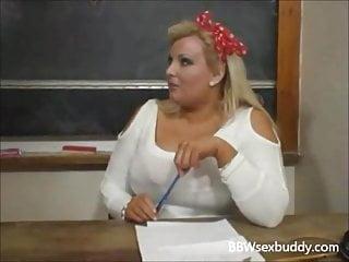Teacher fucks virgin blonde student - Bbw teacher fucks student