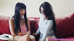 Asian les beauty scissoring tutor babe