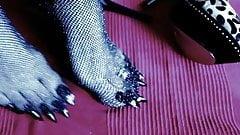 very long black toenails