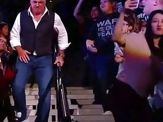 Stephanie mcmahon pantyhose A fan bitch twerk in live on shane mcmahon wwe