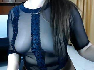 Sheer tops big tits Sheer top and pantyhose dance