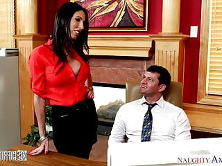 Pussy licking in office movies Busty brunette dava foxx gets pussy licked in the office