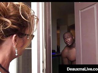 Lindesy loan nude Busty texas cougar deauxma sucks big black cock for tax loan