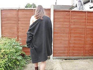 Sexy black slip and stockings Black slip