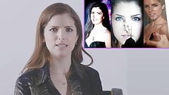 Anna Kendrick reacting to cum tribute videos