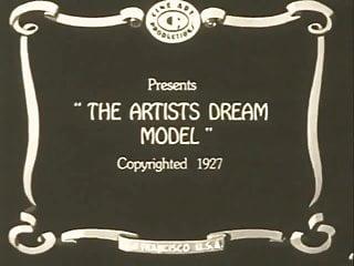 Retro teens models The artists dream model 1927