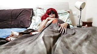 Pregnant Maja Amateur masturbating in the bed