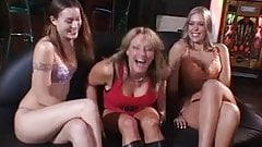 Lesbians fooling with dildos