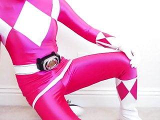 Sex power rangers - Pink ranger masturbates, again