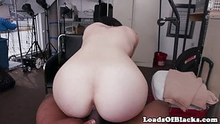 BBC loving casting babe cumsprayed in mouth