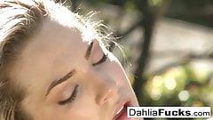 Dahlia's sexy outdoor solo