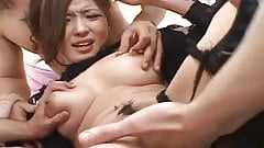 Naami Hasegawa blindfoled kissed, fingered, and fucked by to