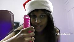 Xmas XXX Porn Indian Babe Horny Lily Christmas Special