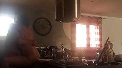 Plan coquin dans la cuisine
