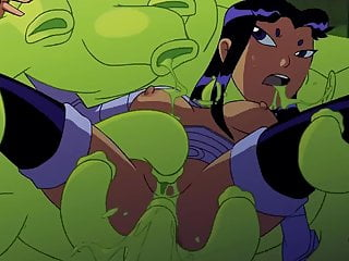 Teen titans v3 Teen titans blackfire : sex scene