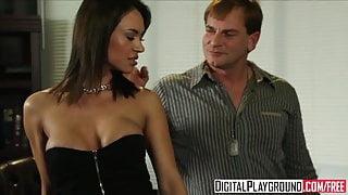 Dirty assistant Franceska Jaimes fucks her boss on his desk