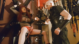 Tranny tied up and tortured with wax!