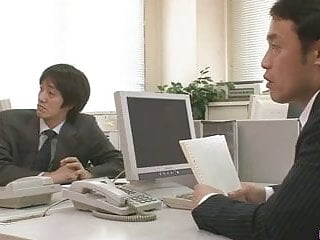 At the office sex - Two guys fuck and creampie aiko hirose at the office