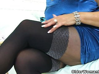 X old omas in pantyhose English milf christina x puts purple dildo to work