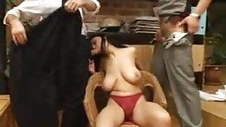 Sexy Big Tits MILF Takes Two Cocks