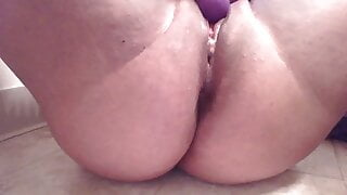 rubbing my clit and finishing with a juicy orgasm