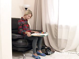 Fumes latex paint Alecia fox paints on her couch and masturbates
