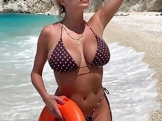 American cock at the beach Caroline vreeland in bikini at the beach