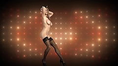 Meeooww! Sexy big tits striptease dancer