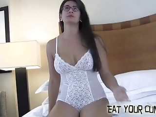 Make your own lingerie - I will tease you and make you eat your own cum