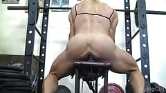 Muscular Lacey Fuck A Gym Dildo