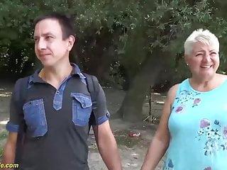 Public mom fuck - Stepson fucks mom on public beach