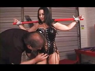 Latex body panit - Bound big tits hottie ends up with hot wax all over her body