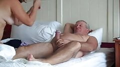 Hot Mature Couple 69 in Bed